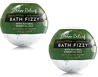 Bath and Body Works 2 Pack Aromatherapy Stress Relief (Eucalyptus & Spearmint) Bath Fizzy. 4.6 Oz from Bath & Body Works