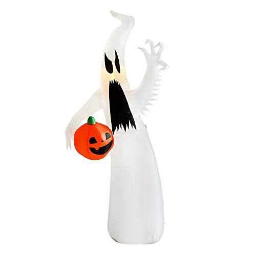 Homegear Halloween Decorations 8 Feet Inflatable Ghost with LED Glow Light]()