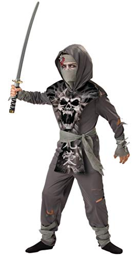 InCharacter Costumes Boys 8-20 Zombie Ninja Costume,  Gray, X-Large ()