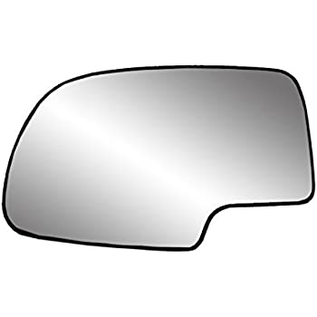 Fit System 33058 Driver Side (LH) Heated Replacement Mirror Glass with Backing Plate