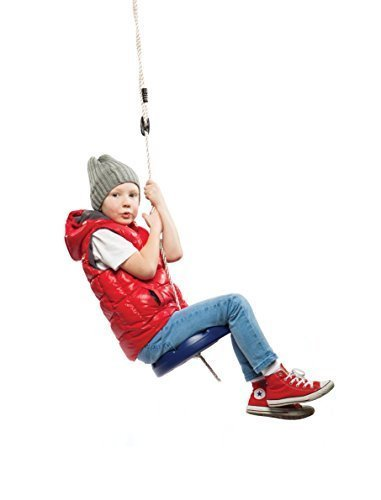- SUMMERSDREAM Disk Seat Swing Daisy Disc Monkey Swing Rope Tree Swing (Blue)