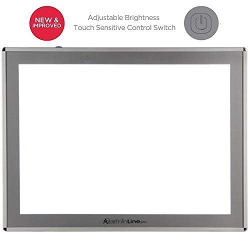Acurit Thin Line Professional Adjustable Brightness LED Light Box & Tracing Tablet - 12 x 17