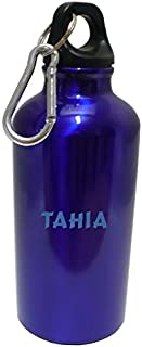 Flasque bouteille d'eau avec le texte Tahia (Noms/Prénoms)