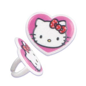 Hello Kitty Heart Cupcake Rings – 12 ct, Health Care Stuffs