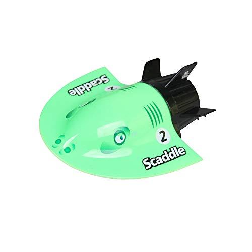 lotus.flower Devil Fish Submarine Mini Electric Radio Remote Control Submersible Boats Christmas Toys (Green)