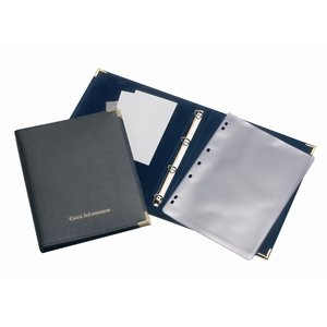 Guest Information Folder Black - Size A4 - Great Way to keep information Tidy!