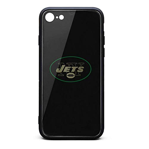 ZaiyuXio iPhone 6S Plus Case, iPhone 6 Plus Case Tempered Glass Back Cover Scratch-Resistant Anti-Slip Soft TPU Frame for iPhone 6 Plus/iPhone 6S Plus (New York Giants New York Jets Tickets)