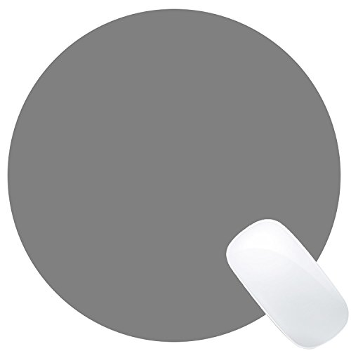 Wknoon Single Circular Blank Mouse Pad - Grey - 8