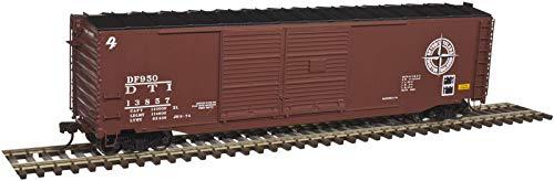 Ho Scale Double Door - Atlas HO Scale Postwar 50' Double-Door Boxcar Detroit Toledo Ironton/DT&I #13857