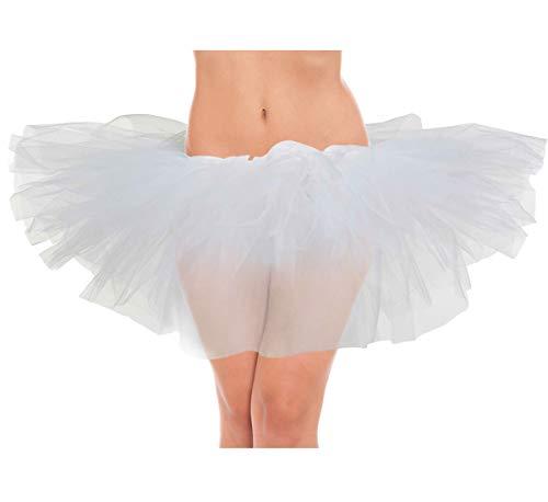 (belababy White Women Turu Skirt Classic 5 Layers Tulle)