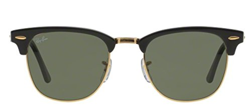 Ray Ban Sunglasses Clubmaster 3016 (49 mm, Crystal Green - Clubmaster Ban Ray Sunglasses Men's