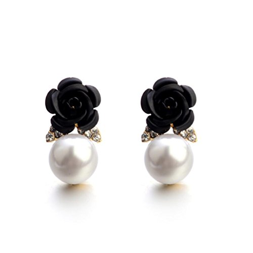Drop Nero eardrop fiore Orecchini strass promozione orecchini Orecchini Grande Ciondolo gioielli Fittingran Orecchini 7f0qWv