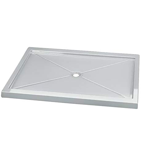 Fleurco ABF3448-18 Quad Acrylic In Line Center Drain Rectangular Shower Base With Finish: White And Base Size: 48