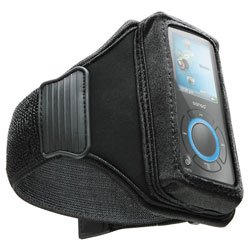 DLO Universal Sport-Ready Neoprene Case for MP3 Players (Action Jacket) with Adjustable Rubberized Armband, Black, DLZ59078/17 (Jacket Action Dlo 17)