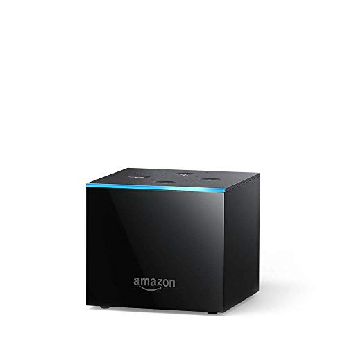 Fire TV Cube, hands-free with Alexa and 4K Ultra HD, streaming media player Apple Black Audio Video Player