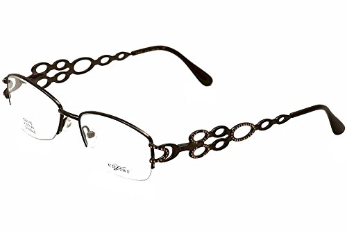 Caviar Womens Eyeglasses M2312 M/2312 C21 Dark Brown Half Rim Optical Frame 53mm