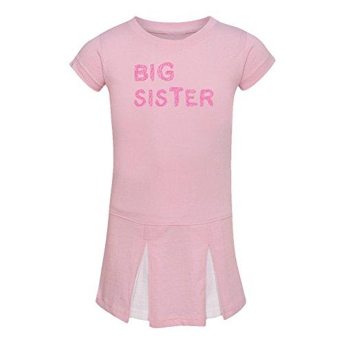 We Match! Big Sister Toddler & Kids T-Shirt (Pink Cheer, 4T)