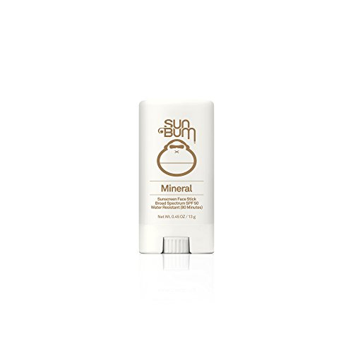 Sun Bum Mineral Sunscreen Face Stick SPF 50|Reef Friendly Broad Spectrum UVA/UVB Protection|Hypoallergenic,Paraben Free,Gluten Free,Vegan|.45oz
