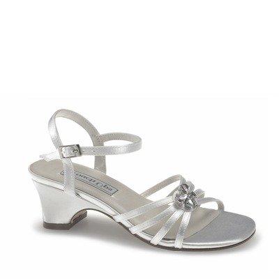Touch Ups Infant Girls' Betsy Rhinestone Shoes,White Satin,10 M - 626 Us