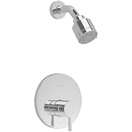 American Standard T064501 295 Serin Shower Only Trim Kit With 3 Function Adjustable Showerhead And Brass Escutcheon Satin Nickel