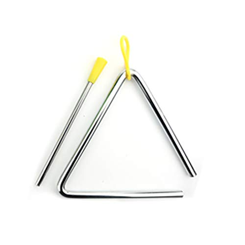 Musical Steel Triangles 8 Inch Hand Percussion Instrument Triangles Music Triangle Instrument Set with Striker