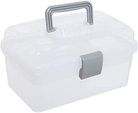 picture of MyGift Clear Gray Multipurpose First Aid, Arts & Craft Supply Case