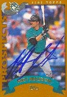 Matt Erickson Calgary Cannons - Marlins Affiliate 2002 Topps Prospects Autographed Card - Minor League Card. This item comes with a certificate of authenticity from Autograph-Sports. Autographed ()