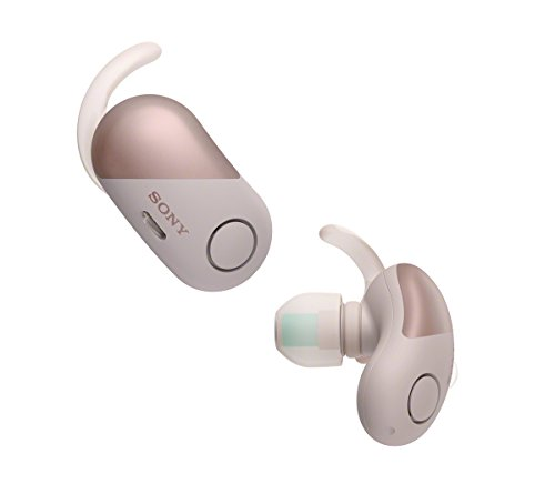 Sony WF-SP700N Truly Wireless Noise-Cancelling Sports Headphones with EXTRA BASS and IPX4 Splash Proof – Pink