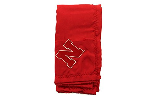 NEBBB - Nebraska Cornhuskers Baby - Blanket - Officially Licensed - Happy Feet & Comfy -