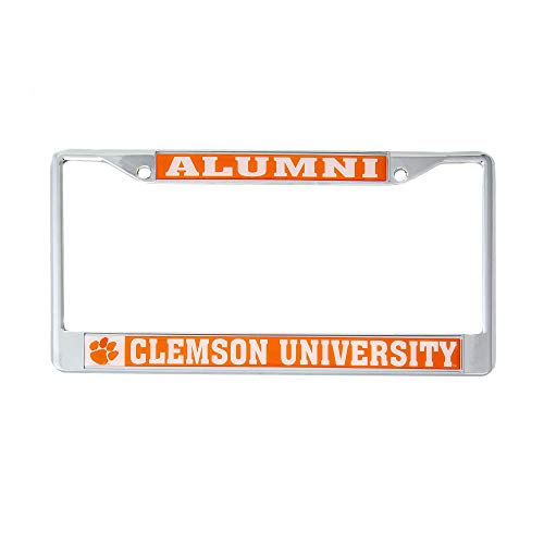(Desert Cactus Clemson University Alumni Metal License Plate Frame for Front Back of Car Officially Licensed Tigers)