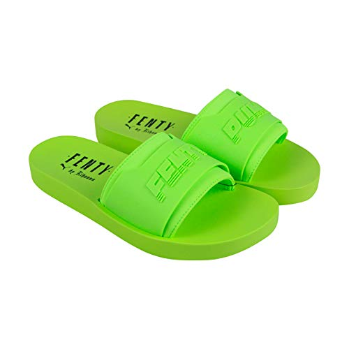 4514b5437 PUMA Women's x Fenty by Rihanna Surf Slide Green Gecko/Green Gecko 7.5 B US