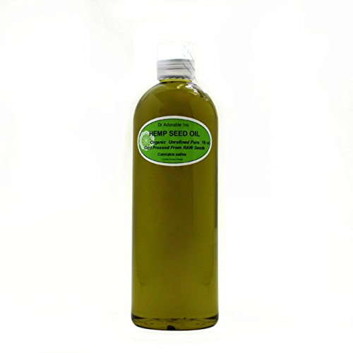 Hemp Oil Lotion (Hemp Seed Oil Pure Organic Cold Pressed by Dr.Adorable 16 oz/1 Pint)