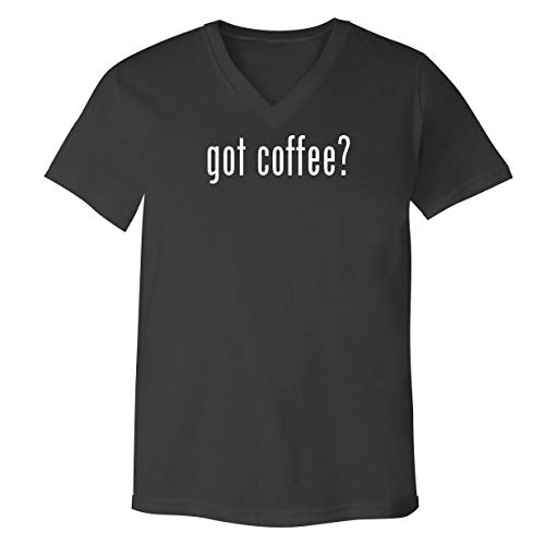 got Coffee? - Adult Bella+Canvas 3005 Unisex V-Neck T-Shirt, Grey, Small