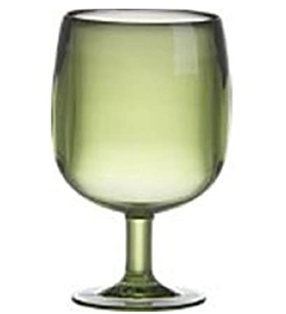Green Plastic Wine Glass Detail