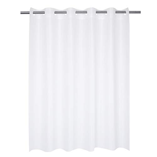 Frosted Shower Curtain No Hooks Needed – 8 Gauge PEVA, Waterproof, Nontoxic, Odorless – 71 x 74 Inch, Frost