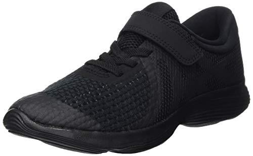 Nike Boys' Revolution 4 (PSV) Running Shoe, Black, 1Y Regular US Little Kid (Boys Size 4 Shoes Nike)
