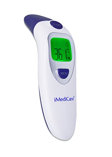 iMediCare Digital Medical Infrared Forehead and Ear Thermometer for Baby, Kids and Adults with Fever Indicator CE Approved, dual modes, instant results, best infrared lens, high accuracy