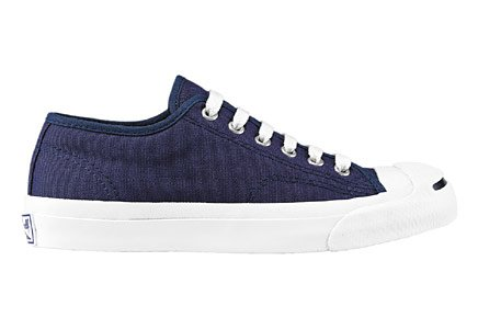 Converse Jack Purcell Canvas Low Top Sneaker Navy 3 M US Men / 5 M US Women Navy/White