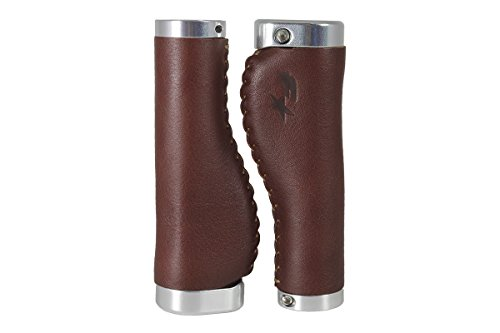 Fyxation Caddis Leather Ergo Grips, Brown