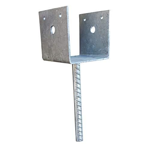 "Post Support Saddle Bracket Holder for 3.5""x3.5"" Posts, 13G Hot Dip Galvanized #354"