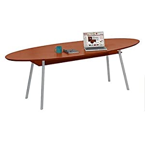 Amazoncom Mystic Elliptical Conference Table With Shelf X - Elliptical conference table
