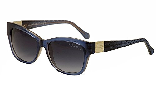 (Roberto Cavalli Women's RC785S5592W Wayfarer Sunglasses,Blue,55 mm)