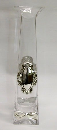 Crystal & Sterling Silver Bud Vase
