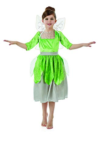 fun shack Childrens Green Pixie Fairy Costume with Sound Girls Dress & Wings - Large]()