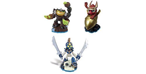 Skylanders Swap Force Action Figures Scorp, Twin Blade Chop Chop, and Big Bang Trigger Happy -