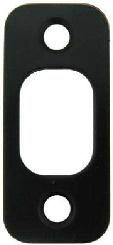 Door Backplate 1 x 2 1//4 Round Corner Oil Rubbed Vintage Bronze Deadbolt Strike Plate