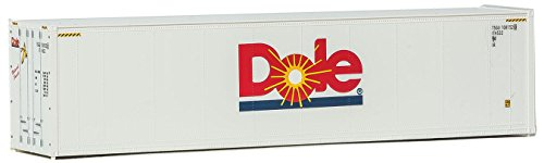 (Walthers HO Scale 40' Hi-Cube Smooth-Side Reefer Shipping Container Dole)