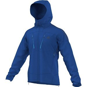 adidas Sport Performance Terrex Swift Softshell Hoodie Jacket, Blue Beauty, Medium