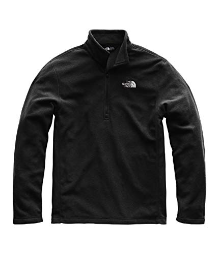 Hoodies Zip Over Face - The North Face Men's TKA 100 Glacier 1/4 Zip, TNF Black, MD