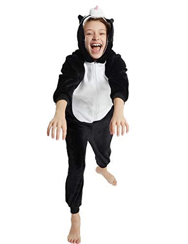 Husky Costumes For Dogs (Animal Onesie Kids Unisex Onepiece Pajamas Halloween Cosplay Party Costume Loungewear Black Dog Puppy Husky)